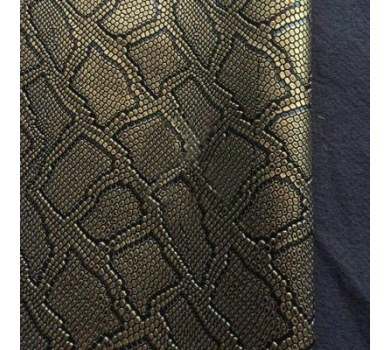 Кожзам с тиснением под рептилию, золото, арт. KA410808