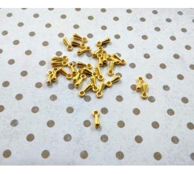 Подвеска металлическая анкер, цвет золото, 0,5см, KA10128