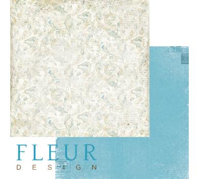 Лист бумаги для скрапбукинга Цветочный орнамент, коллекция Забытое лето, арт. FD1005302