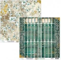 Бумага двусторонняя для скрапбукинга Old Manor by Mintaypapers, арт. MT-OLD-05