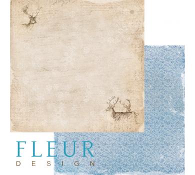 Лист бумаги для скрапбукинга Лесные олени, коллекция Зимние узоры, арт. FD1004805