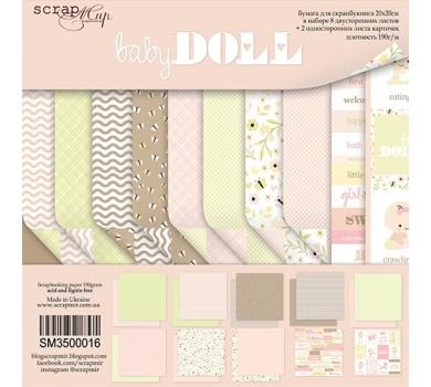 Набор бумаги для скрапбукинга Doll Baby, 20х20 см, 190 гр/м, 10 листов, SM3500016