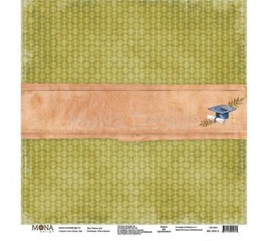 Лист бумаги для скрапбукинга Ученье свет, коллекция Учат в школе, 95613