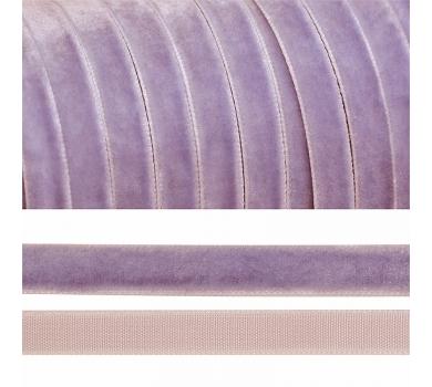 Лента бархатная, цвет сиреневый, lb1073
