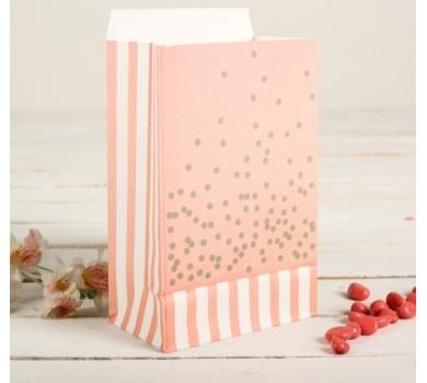 Пакет фасовочный с фольгированием, розовый с белым, Арт. 2654347