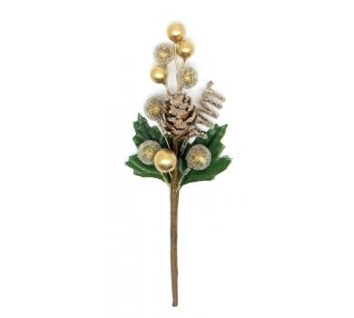 Декоративный букетик Зимний золотой, DKB166A