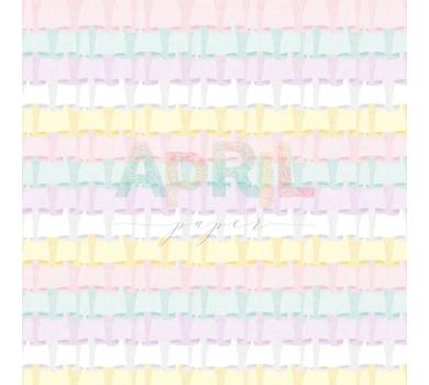 Лист односторонней бумаги для скрапбукинга Кокетка, коллекция Детские мечты, арт. girl-012-01-1
