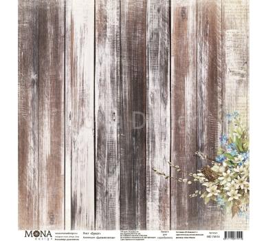 Лист бумаги для скрапбукинга Букет, коллекция Дыхание весны, 74514