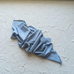 Искусственная замша двусторонняя (тонкая), цвет голубой, арт. 411629
