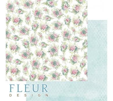 Лист бумаги для скрапбукинга Пионовый букет, коллекция Дыхание весны, FD1007809