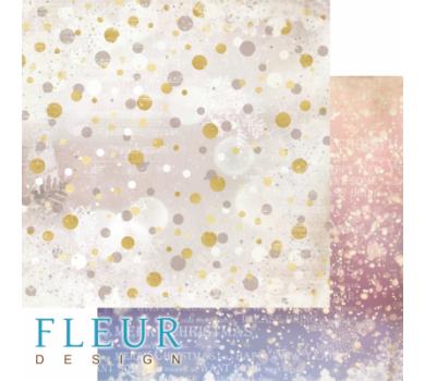 Лист двусторонней бумаги для скрапбукинга Снежное сияние, коллекция Волшебный лес, FD1005909