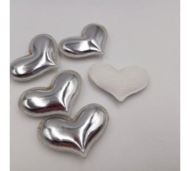 Патч (нашивка) Серебряное сердце, 1 шт., арт. 194805