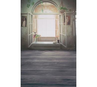 Фотофон виниловый стена+пол Открытое окно, 2778418