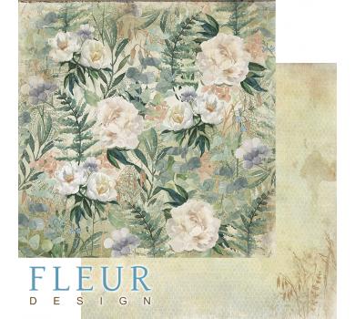 Лист двусторонней бумаги для скрапбукинга Полевые цветы, коллекция Дары полей, FD1006503