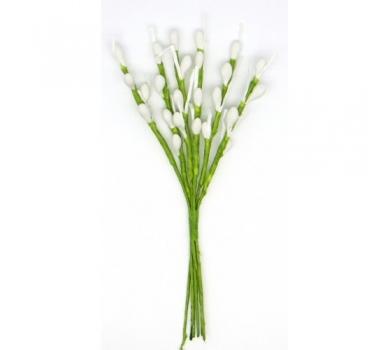Декоративный букетик Весенний ,белые тычинки крупные, DKB118A