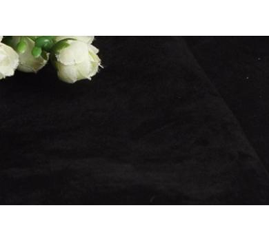 Искусственная микро-замша, цвет черный, 50х35 см, 155107