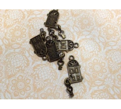 Подвеска металлическая Home, sweet home, цвет античная бронза, 1*1,5 см, KA10059