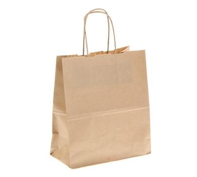 Пакет крафт без печати, крученая ручка, 1263050