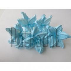 """Бумажные цветы """"Лилии голубые"""". Кол-во: 5 шт. Диаметр: 4 см. арт. flower500-13"""