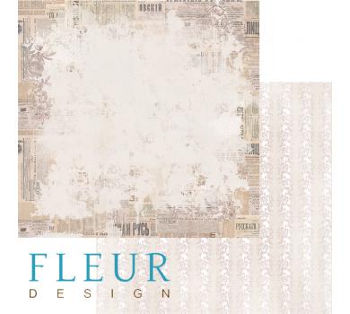 Лист бумаги для скрапбукинга Французский Вестник, коллекция Блошиный рынок, арт. FD1004508