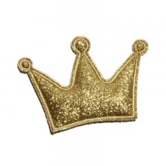 Патч (нашивка) с глиттером Золотая корона, 1 шт., арт. 194900