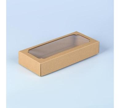 Коробка подарочная из крафт-картона с окошком, арт. 3652523