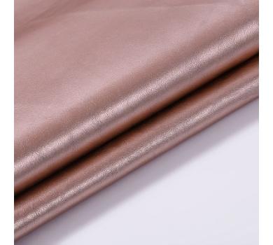 Кожзам с эффектом металлик, цвет розовое золото, SC420403