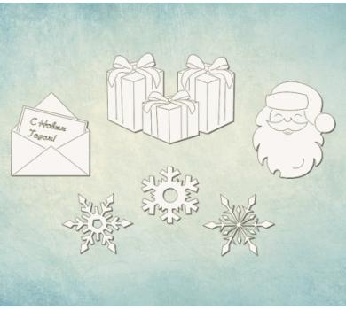 Чипборд набор Письмо деду морозу, ARTCHB006031