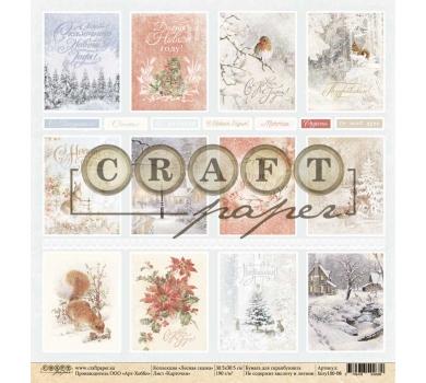 Односторонний лист Карточки, коллекция Лесная сказка, fairy100-08