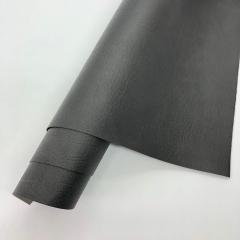 Кожзам (экокожа) на полиуретановой основе с тиснением мантуя (мятая кожа), цвет антрацит, арт. SC410070