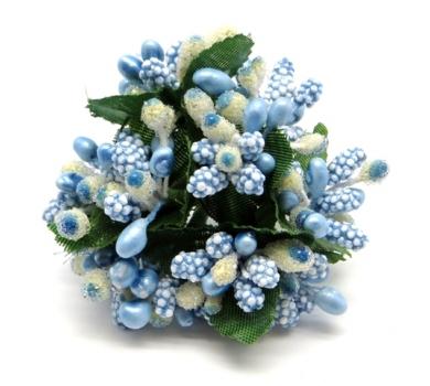 Декоративный букетик Голубой, DKB121E