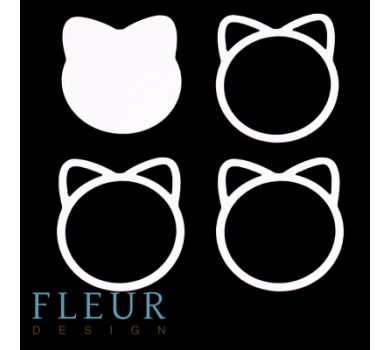 Заготовка для шейкера Котёнок от FLEUR design, FD1531002