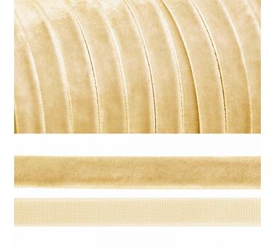 Лента бархатная, цвет молочный, lb1004