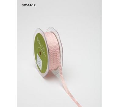Лента двухцветная May Arts Chevron розовая, 382-14-17