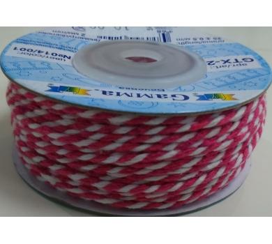 Шнур бечевка розово-белый, GTX-25-014/001