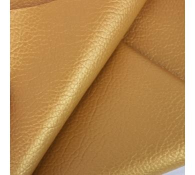 Кожзам на тканной основе с крупным тиснением под кожу, цвет под золото, 1308032