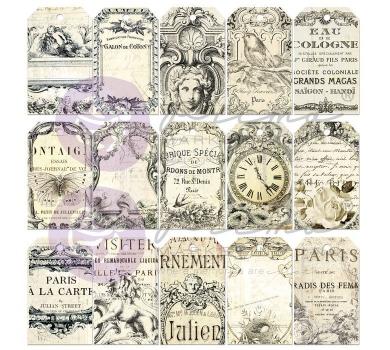 Набор карточек для раскрашивания Parisian Paintables Cardstock Tags, 814205