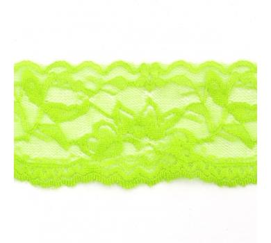 Кружево-стрейч, светло-зеленый, TBY-T49411