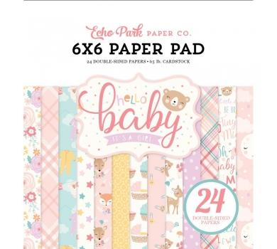 Набор двусторонней бумаги Hello Baby Girl, 171023