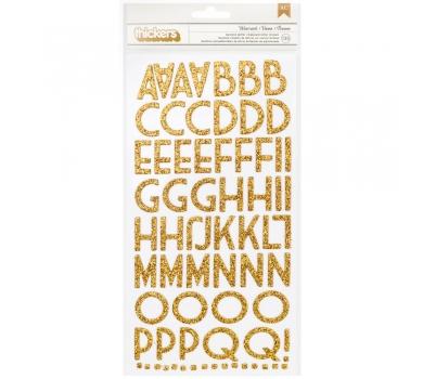 Глиттерный чипборд алфавит на клеевой основе, арт. 53280