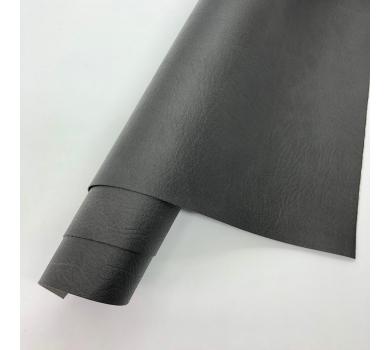 Кожзам (экокожа) на полиуретановой основе с тиснением мантуя (мятая кожа), цвет антрацит, арт. SC420070