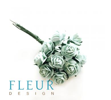 Мини-розочки Мятные, размер цветка 1 см, 10 шт/упаковка FD3072166