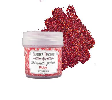 Краска с глиттером Shimmer paint, цвет рубин, FDSAP-05