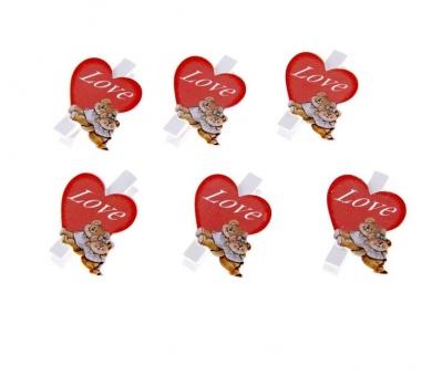 Прищепка декоративная Любовь, 124446