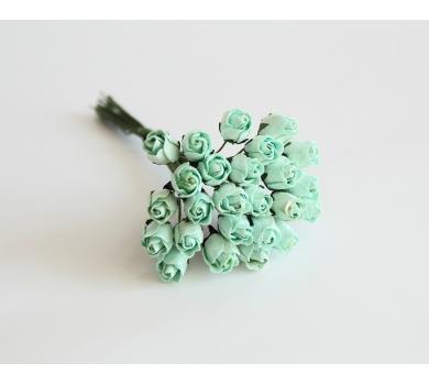 Мини-бутоны роз полураскрытые мятные, 5 шт, диаметр цветка 0.8 см, r2166