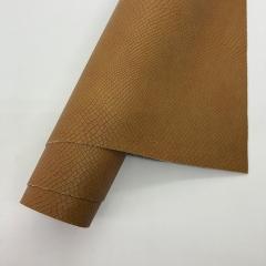 Кожзам (экокожа) на полиуретановой основе с тиснением под питона, цвет корица, арт. SC410049