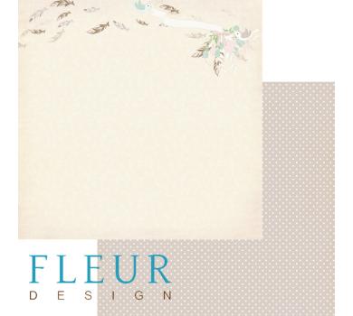 Лист бумаги для скрапбукинга Полет, коллекция Зарисовки весны, арт. FD1003606