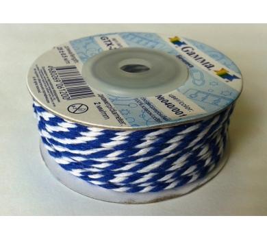Шнур бечевка, синий-белый, GTX-25-040/001