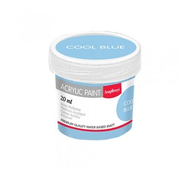 Акриловая краска для декора, цвет Холодный голубой, 20 мл, арт. SCB313121