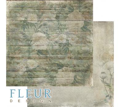 Лист двусторонней бумаги для скрапбукинга Заброшенный дом, коллекция Дары полей, FD1006505